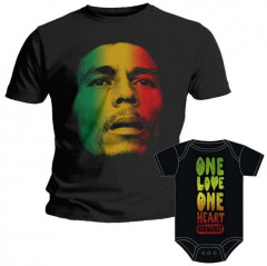 Set Rock duo t-shirt pour papa Bob Marley & Bob Marley body Bébé