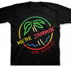 Bob Marley Kids T-shirt Neon Sign