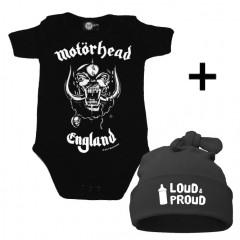 Set Cadeau Motörhead Body Bébé & Loud & Proud Bonnet
