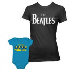 Set Rock duo t-shirt pour maman The Beatles & The Beatles body Bébé Portholes