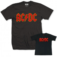 Set Rock duo t-shirt pour papa AC/DC & t-shirt Bébé Logo Colour
