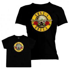 Set Rock duo t-shirt pour maman Guns N' Roses & t-shirt Enfant