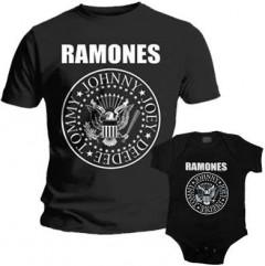 Set Rock duo t-shirt pour papa Ramones & Ramones body Bébé