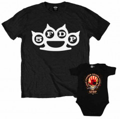 Set Rock duo t-shirt pour papa Five Finger Death Punch & Five Finger Death Punch body Bébé