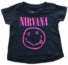 Nirvana T-Shirt Bébé Smiley Pink