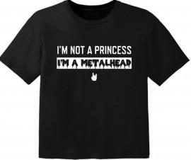T-shirt Bébé Metal I'm not a princess I'm a metalhead