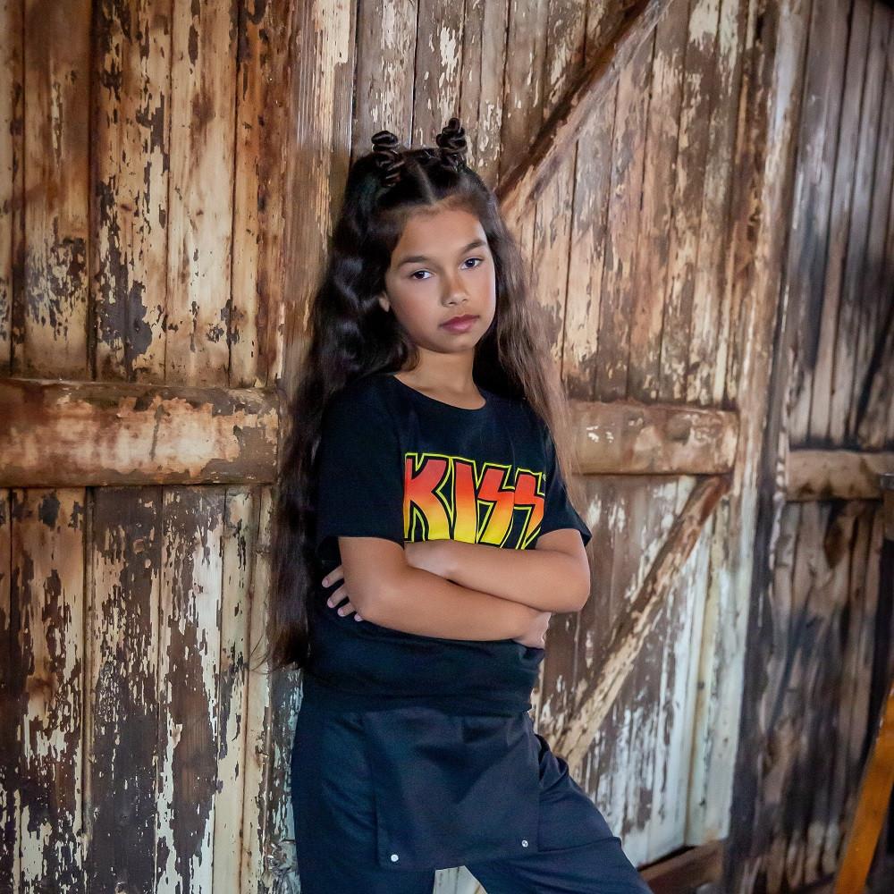 Kiss t-shirt Enfant Logo fotoshoot