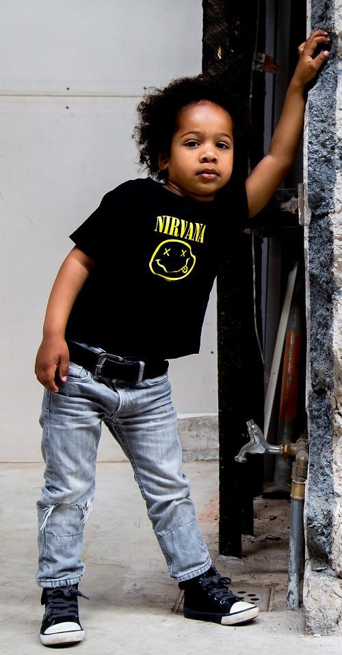 Nirvana t-shirt Enfant Smiley photo