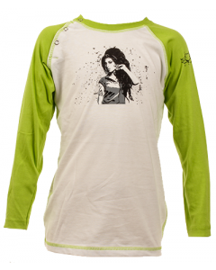 Amy Winehouse Longsleeve Enfant Baseball é Cotton bio