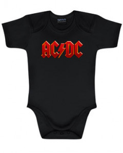 Body Bébé AC/DC AC/DC Logo Colour é METAL body Bébés