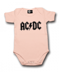 AC/DC body é metal bodys Metal-Kids Logo Pink
