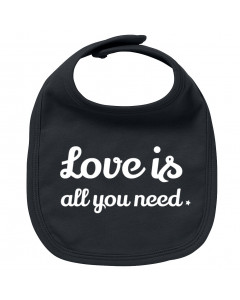 Bavoir Rock Bébé love is all you need