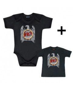 Set Cadeau Slayer body Bébé Silver Eagle & Slayer T-shirt Bébé Silver Eagle