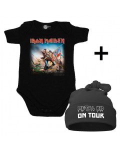 Set Cadeau Iron Maiden Body Bébé & Metal Kid on Tour Bonnet