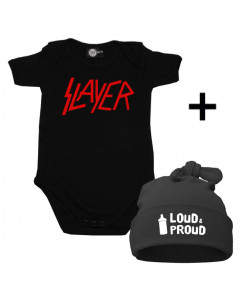 Set Cadeau Slayer Body Bébé & Loud & Proud Bonnet