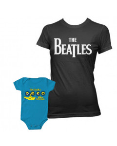 Set Rock duo t-shirt pour maman The Beatles & The Beatles body Bébé Portholes