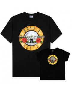 Set Rock duo t-shirt pour papa Guns 'n Roses & t-shirt Bebe