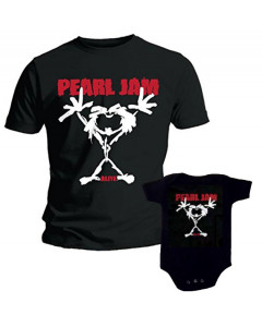 Set Rock duo t-shirt pour papa Pearl Jam & Pearl Jam body Bébé