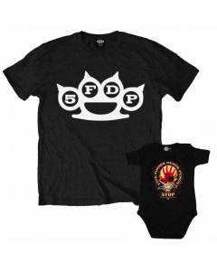 Set Rock duo t-shirt pour papa Five Finger Death Punch & Five Finger Death Punch body Bébé