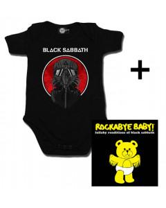 Set Cadeau Black Sabbath Body Bébé 2014 & Black Sabbath CD