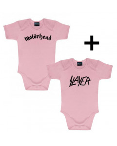 Set Cadeau Motörhead Body Bébé & Slayer body Pink