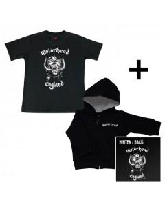 Set Cadeau Motörhead t-shirt bébé & Motörhead England Sweat Bébé/ zip hoodie