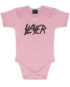 Slayer body é metal bodys Metal-Kids Logo Pink