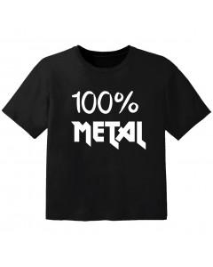 T-shirt Bébé Metal 100% metal