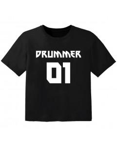 T-shirt Bébé Rock drummer 01