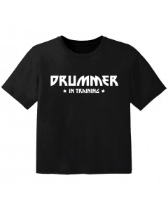 T-shirt Bébé Rock drummer in training