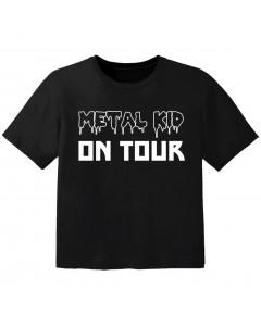 T-shirt Bébé Metal metal kid on tour