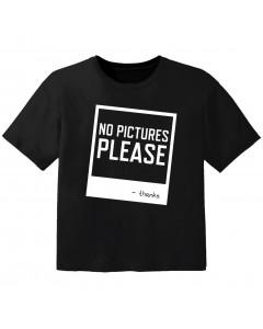 T-shirt Bébé Rock no pictures please