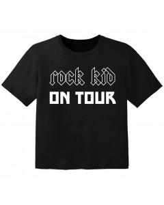 T-shirt Bébé Rock rock kid on tour