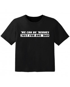T-shirt Bébé Rock we can be heroes just for one day