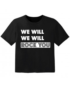 T-shirt Bébé Rock we will we will rock you