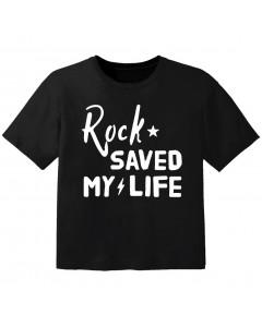T-shirt Rock Enfant rock saved my life