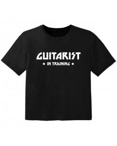 T-shirt Bébé Rock guitarist in training