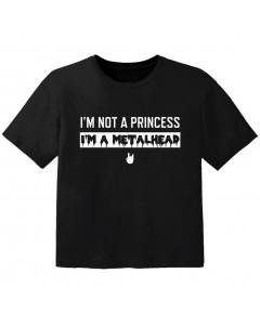 T-shirt Metal Kids Enfant I'm not a princess I'm a metalhead