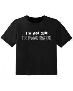 T-shirt Rock Enfant im not cute im punk rock