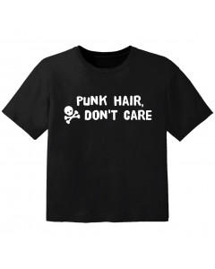 T-shirt Punk Enfant punk hair don't care