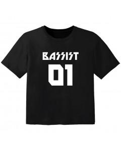 T-shirt Bébé Rock bassist 01