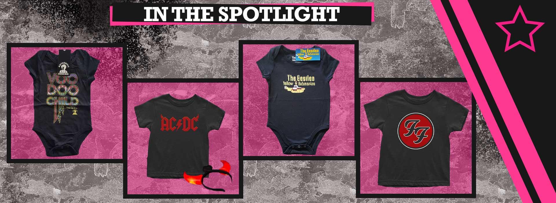 In the spotlight! Jimi Hendrix AC/DC The Beatles Foo Fighters